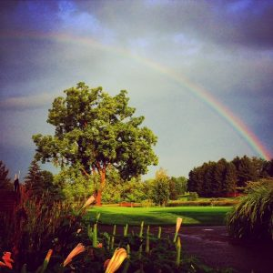 Rainbow over Hole # 18