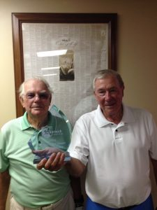 Tom Huntington 2016 Super Super (Green Tee Division) Club Champion, Richard Mayo (on left, Runner Up)